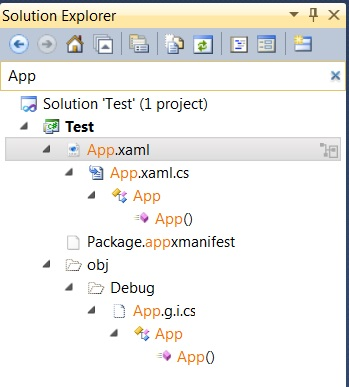 Visual Studio 11 research in project